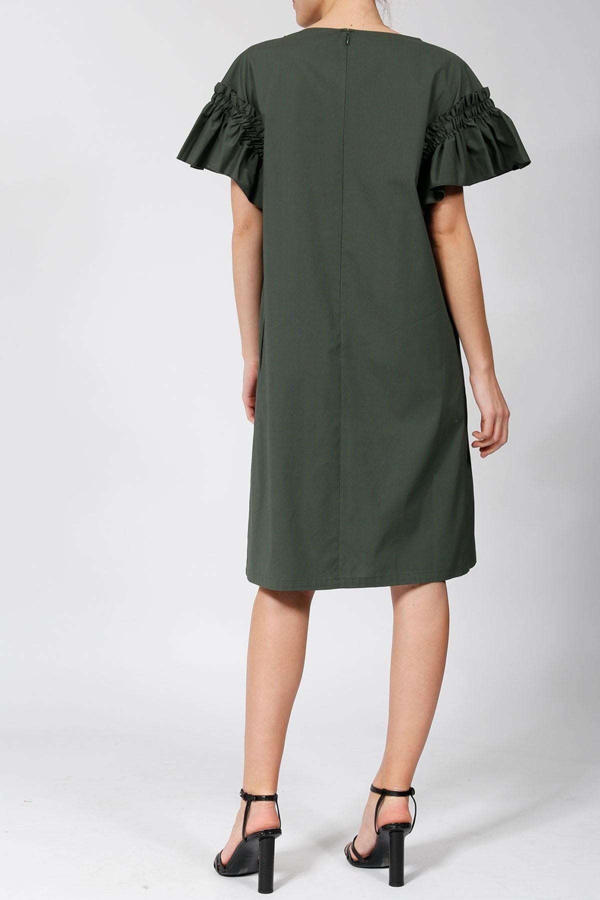 Abend Einzigartig Kleid Olivgrün Design  Abendkleid