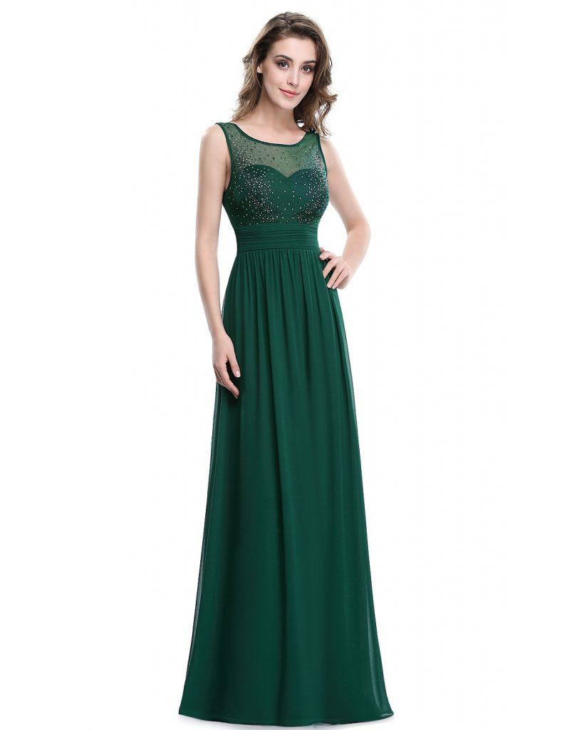 Abend Leicht Abendkleider Grün Boutique  Abendkleid
