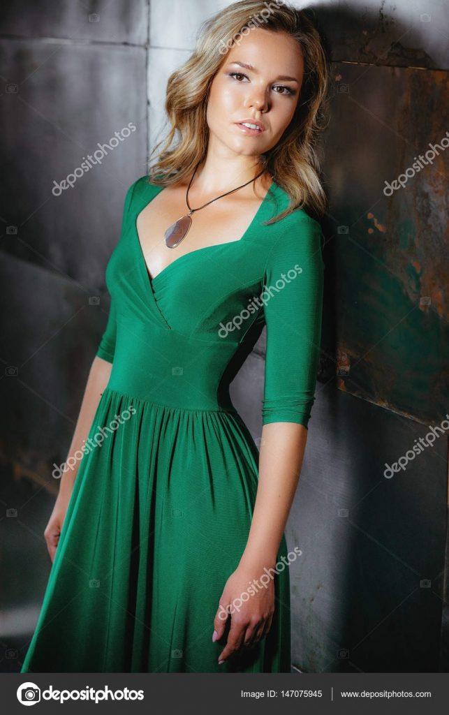 Abend Leicht Schönes Grünes Kleid Galerie  Abendkleid