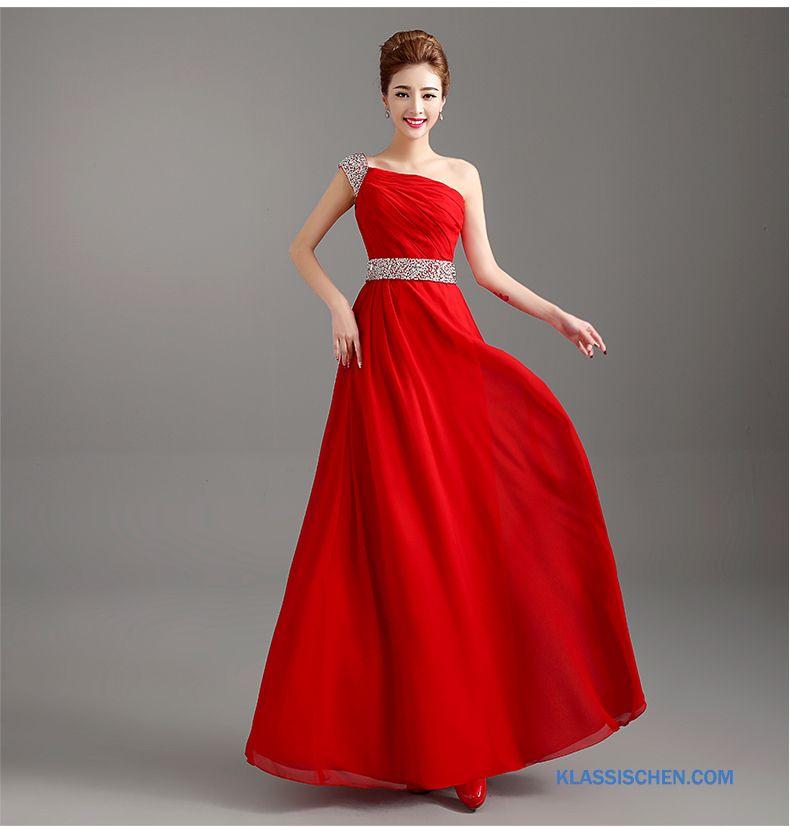 Abendabendkleider Damen Braut Rote Hochzeitskleid Edel