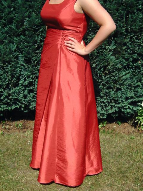 Abendkleid Ballkleid Rot Größe 42 44 Alinie 1X Getragen