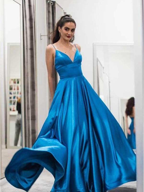 Abendkleid Henrieke Blau  Viviry Abendkleider