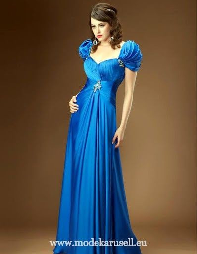 Abendkleid Lang Blau Oder Rot  Abendkleid Lang Blau