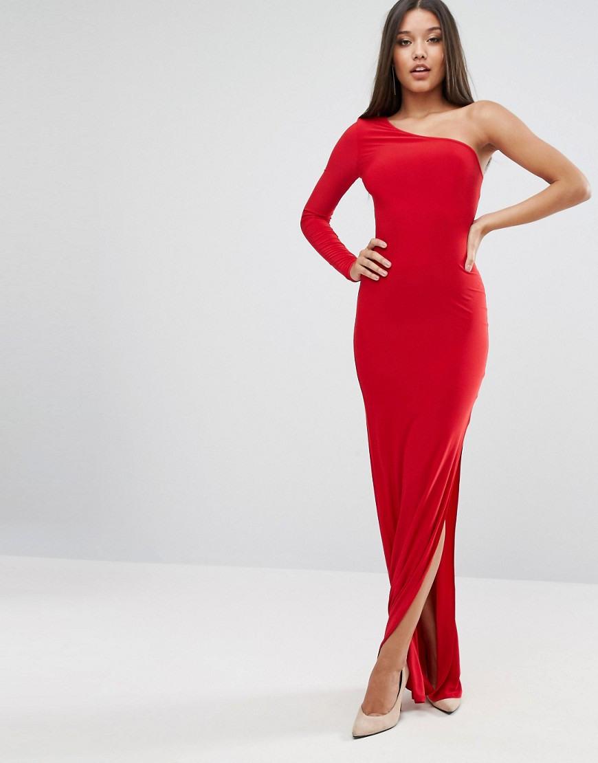 Abendkleid Lang Rot Asos  Stylische Kleider Für Jeden Tag