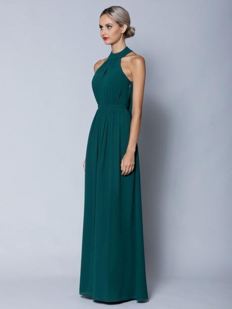 Abendkleid Lang Smaragdgrün