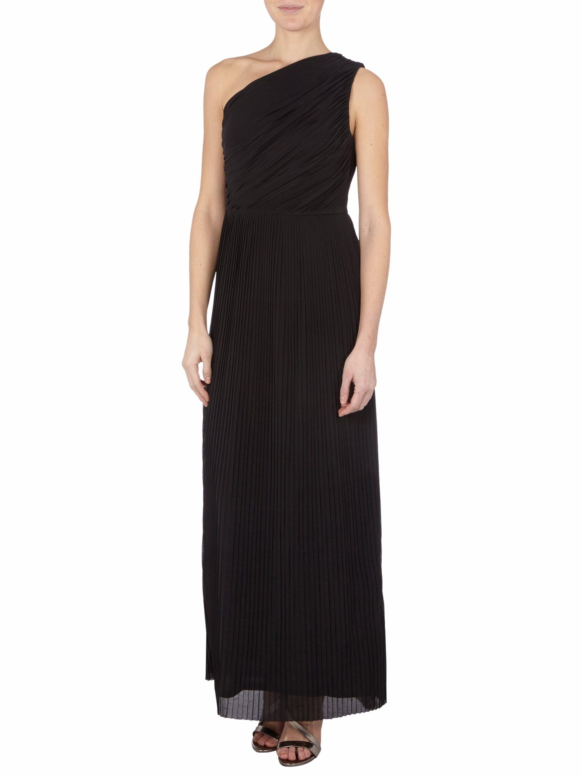 Abendkleid Mit Plisseefalten  Fashion Id Online Shop