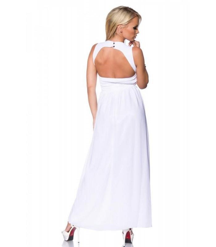 Abendkleid Mit Steinen Weiß  At13444  Fashionmoon