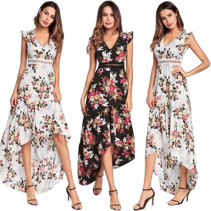 Abendkleid Sommerkleid Maxikleid Partykleid Chiffon
