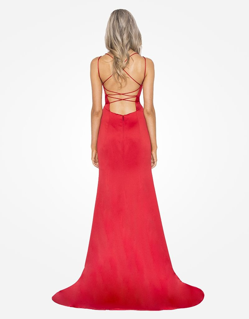 Abendkleid Tiara Rot V  Abendkleid Kleider Ballkleid