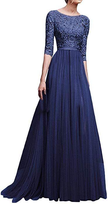 Abendkleider Damen Lang Festliches Elegant Maxikleider