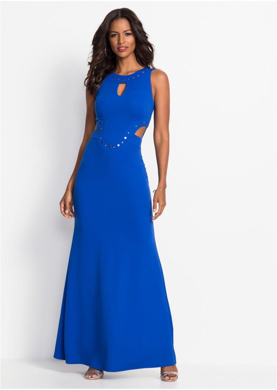 Abendmaxikleid Blau  Bodyflirt Boutique Online Bestellen