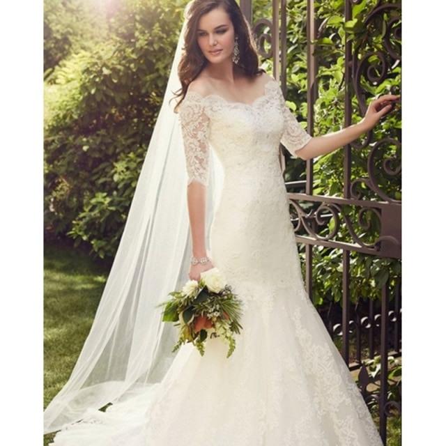 Abnehmbare Spitze Jacke Hochzeit Kleid 2017 Romantische