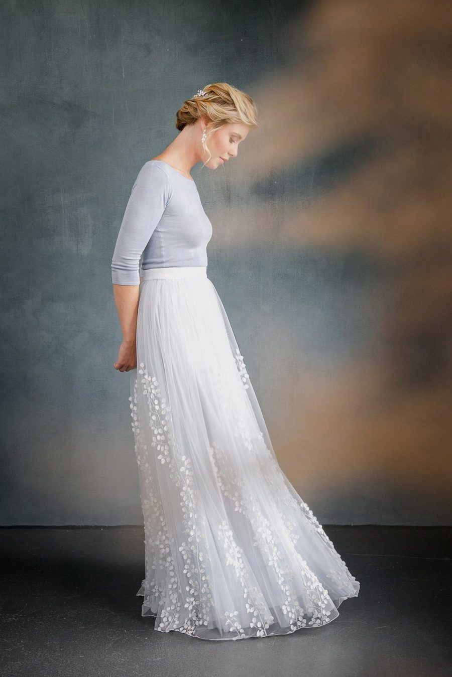 Abnehmbarer Braut Überrock Mit 3Dblättertüll  Lillith