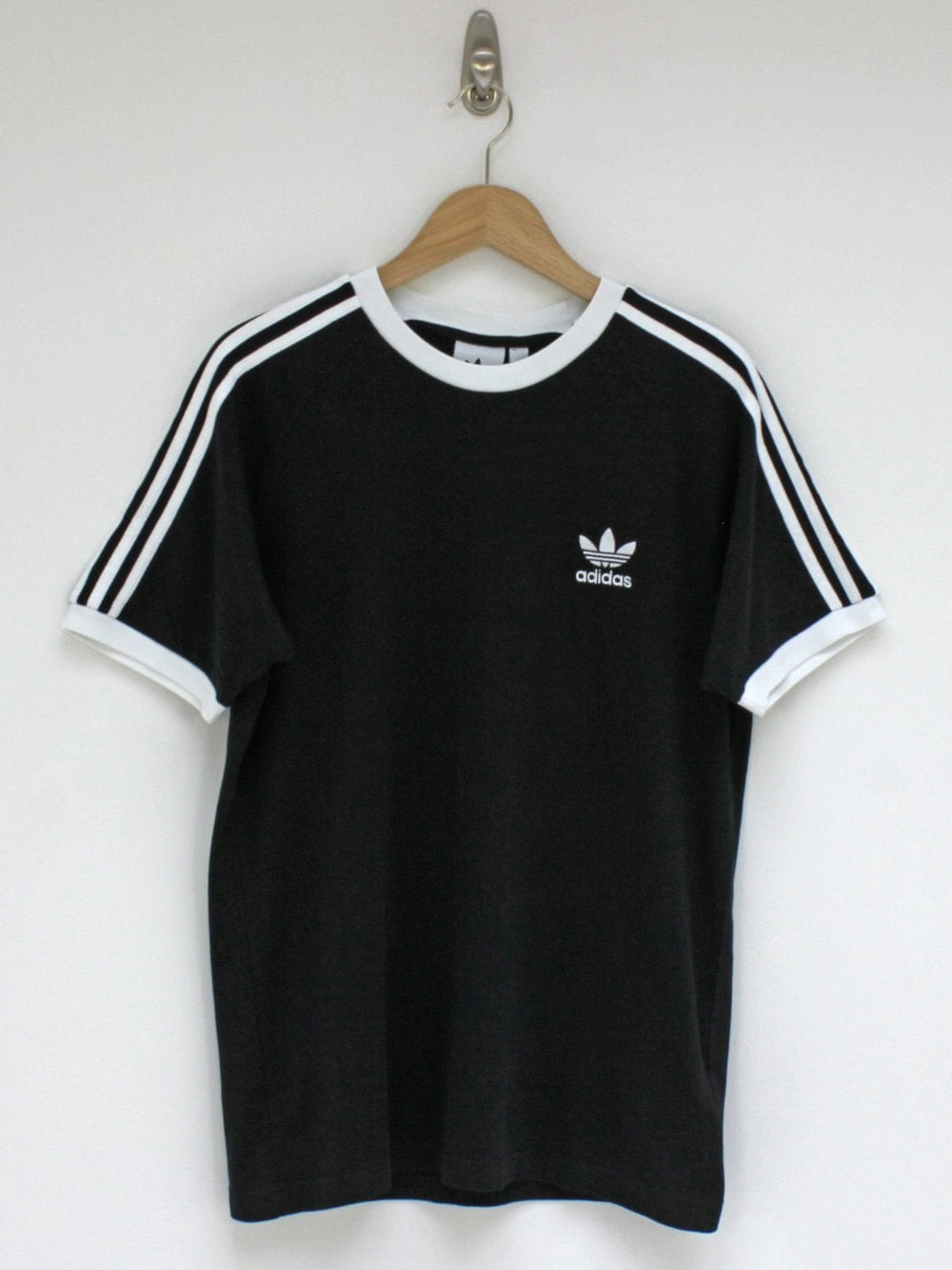 Adidas 3 Stripe Tshirt In Black  Northern Threads