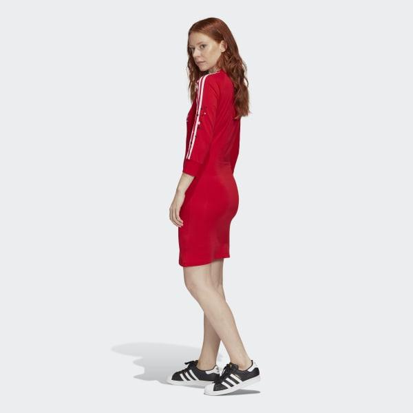 Adidas 3Streifen Kleid  Rot  Adidas Deutschland