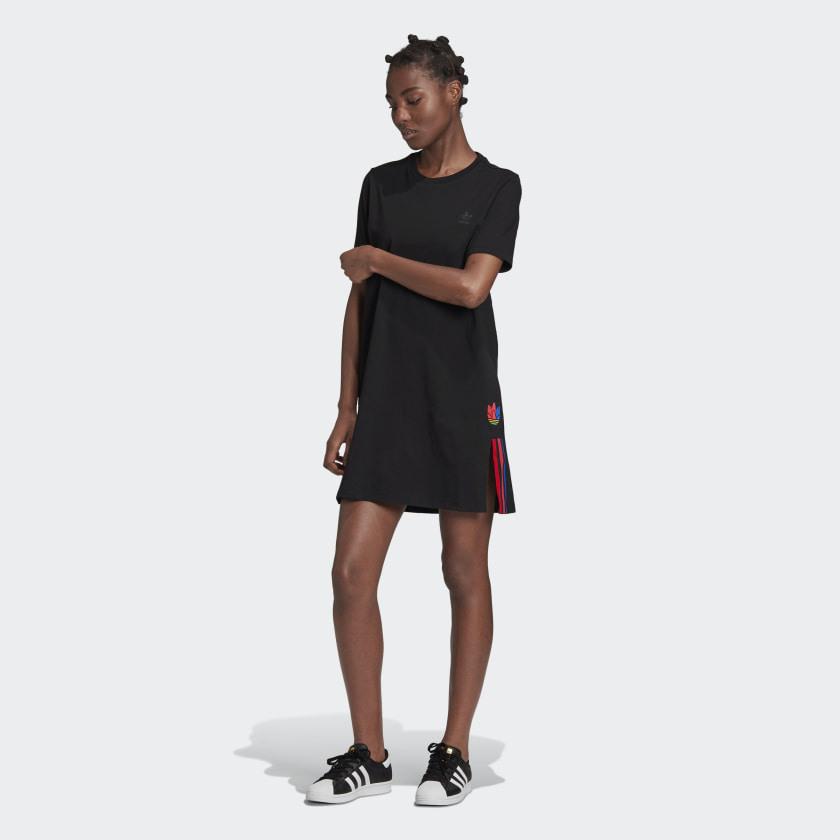 Adidas Adicolor 3D Trefoil Tshirtkleid  Schwarz