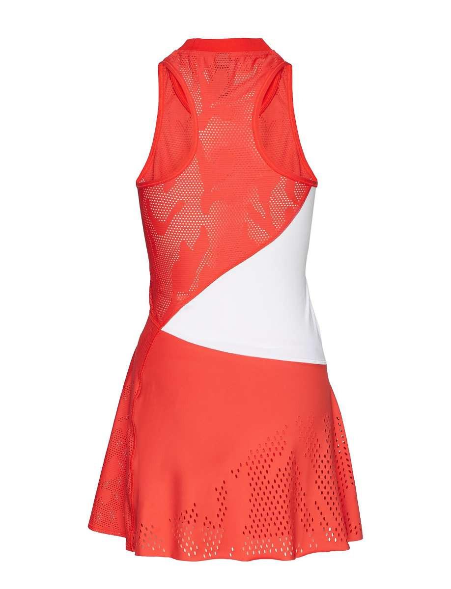 Adidas Damen Stella Mccartney Dress Tennis Kleid Rotweiß