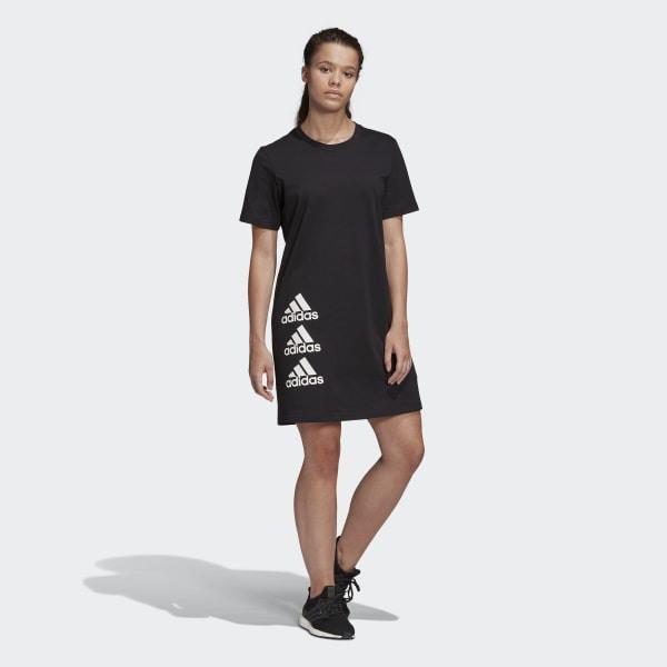 Adidas Must Haves Stacked Logo Kleid  Schwarz  Adidas