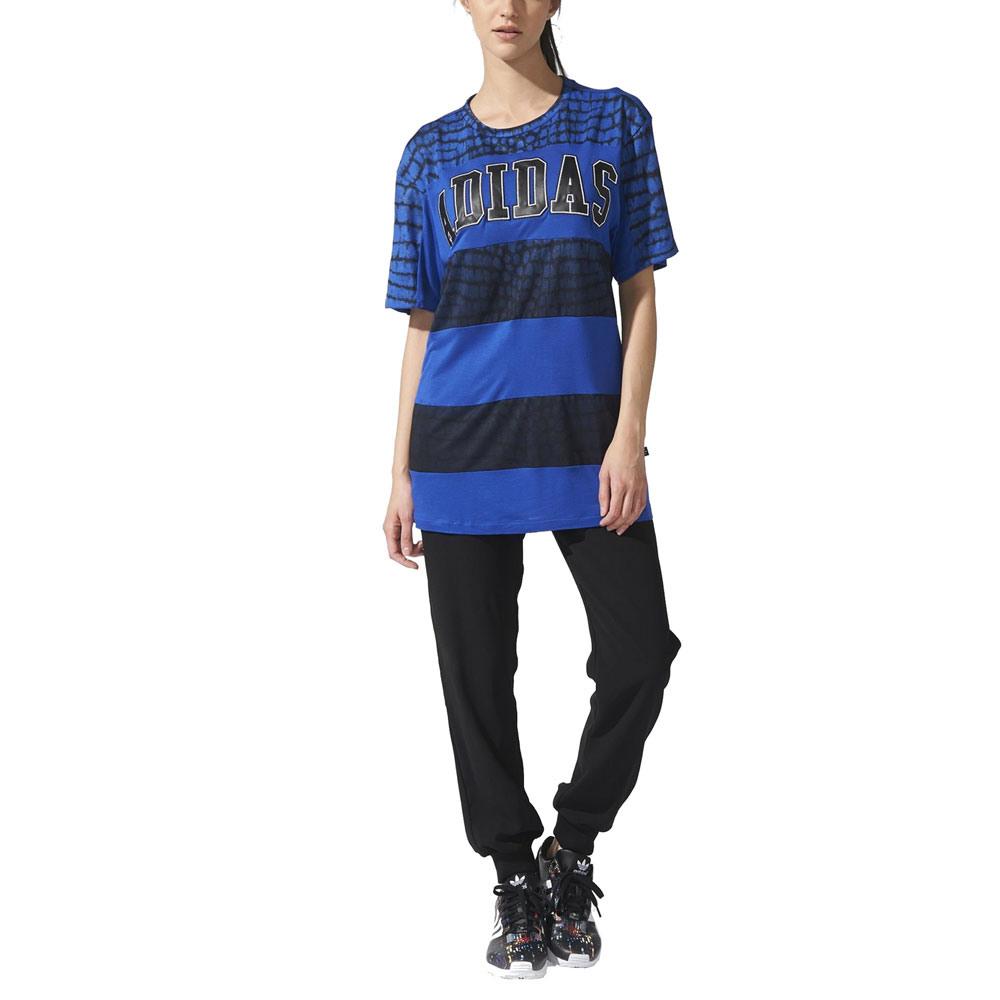 Adidas Ny Tee Dress Damenkleid S19924 Bold Blue/Black