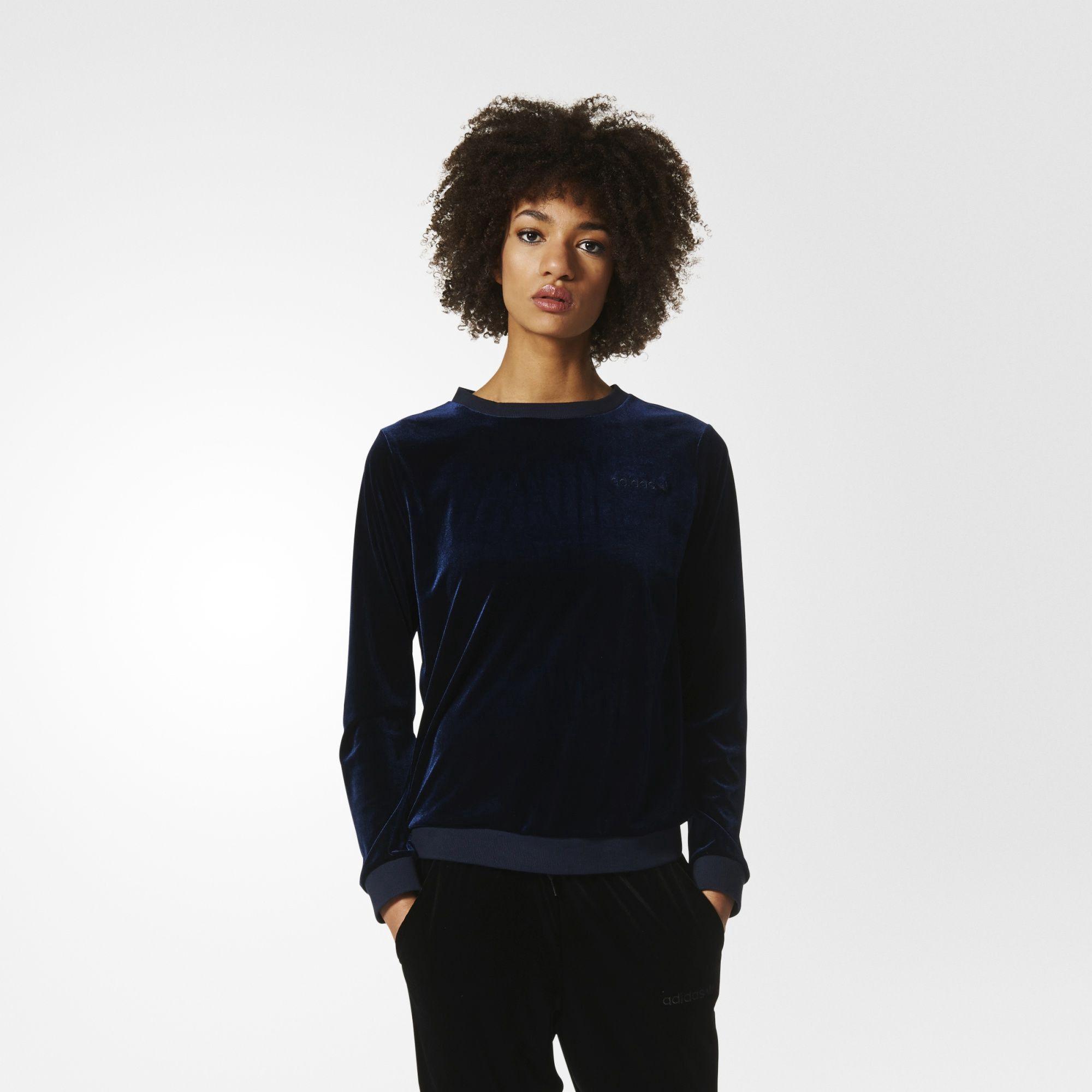 Adidas Originals Velvet Sweatshirt Adidasoriginals