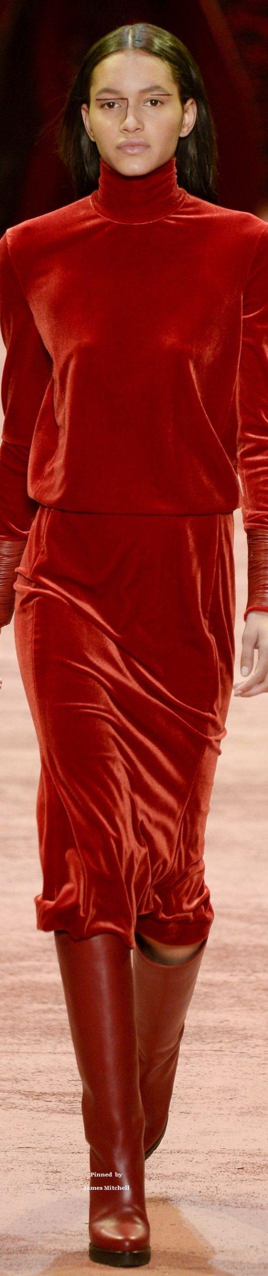Akris Collection Fall 2016 Readytowear  Velvet Fashion