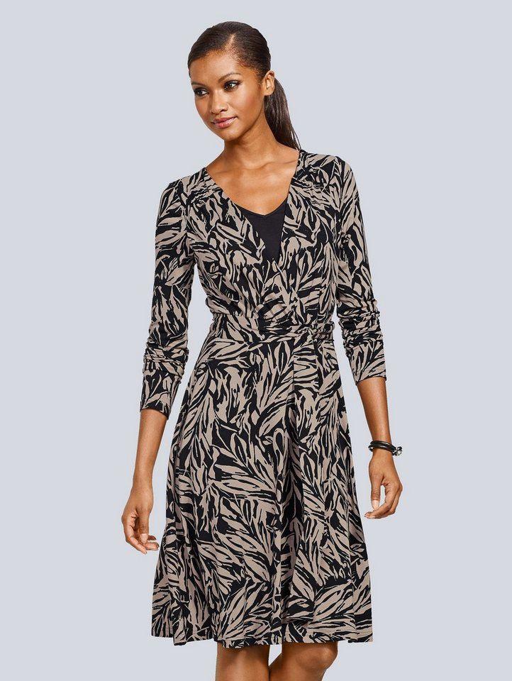 Alba Moda Jerseykleid In Schöner Wickeloptik  Kleider