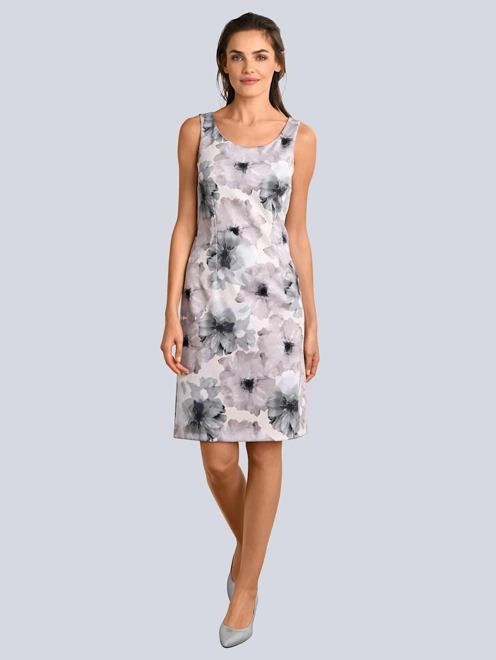 Alba Moda Kleid Blumendruck Allover  Klingel