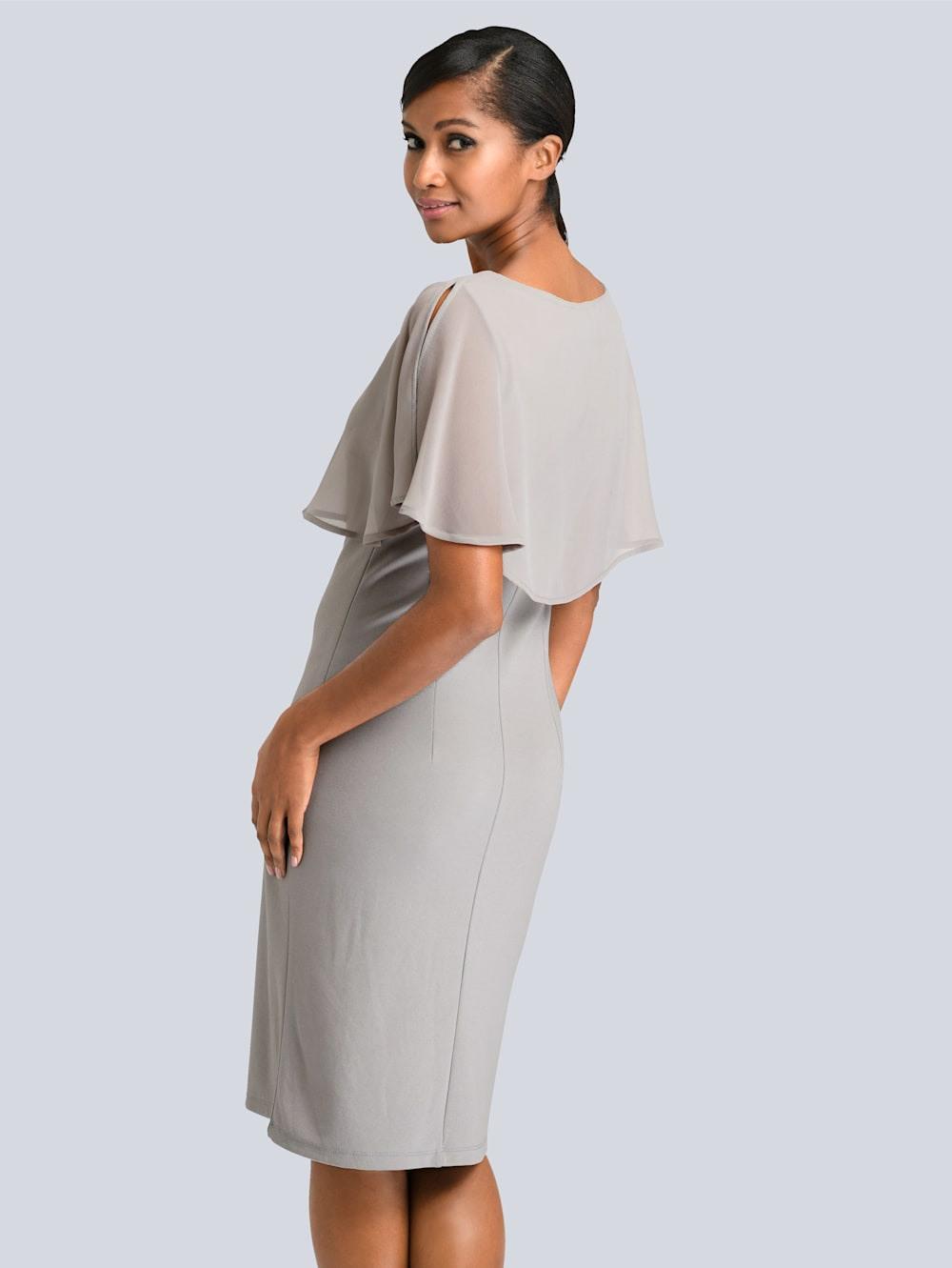 Alba Moda Kleid Mit Chiffonlayer  Alba Moda