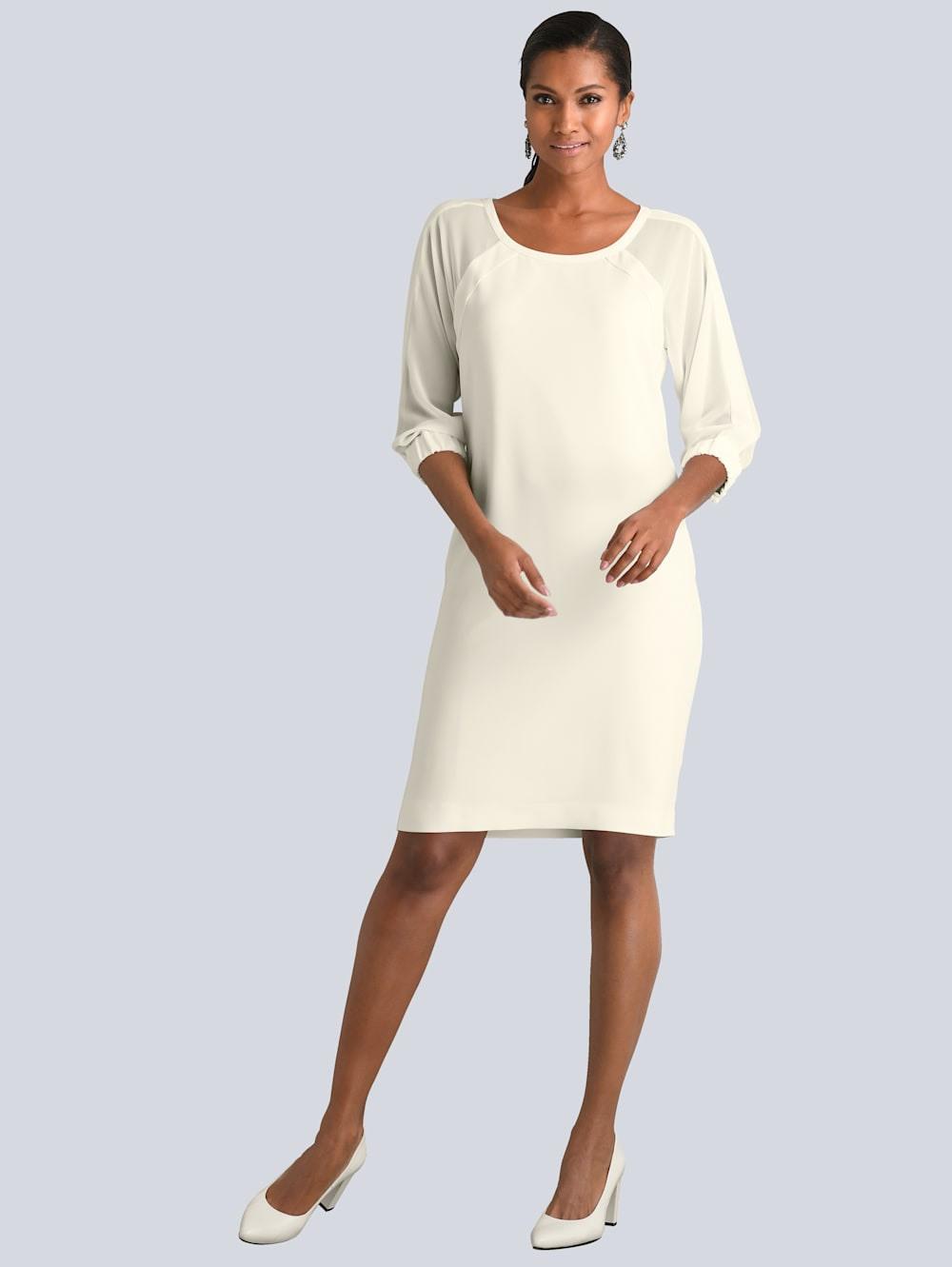 Alba Moda Kleid Mit Transparenten Chiffonärmeln  Alba Moda