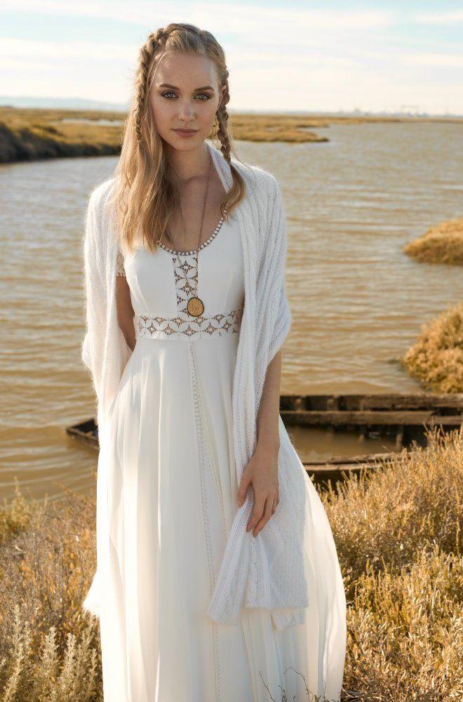 Alice Blue  Boho Kleid Kurz Kleider Brautkleid Kurz Spitze