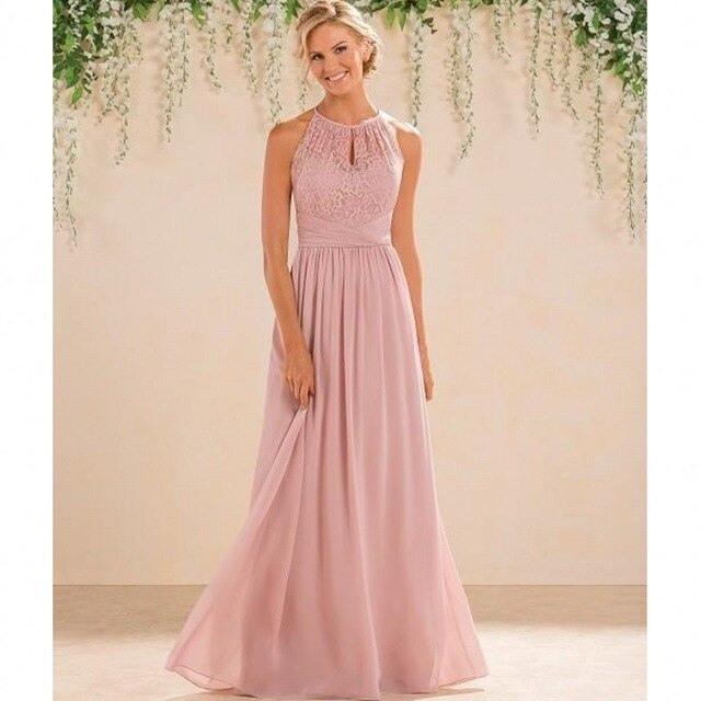 Aliexpress  Buy 2017 Dusty Pink Bridesmaid Dresses