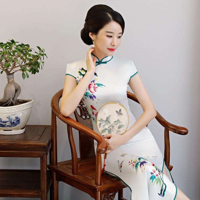Aliexpress  Buy 2019 New Cheongsam Long Qipao Dress