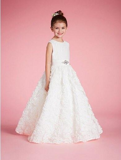 Aliexpress  Buy Lovely White Lace Flower Girl Dresses