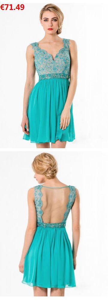Alinie Träger Chiffon Elegante Partykleider Abendkleider