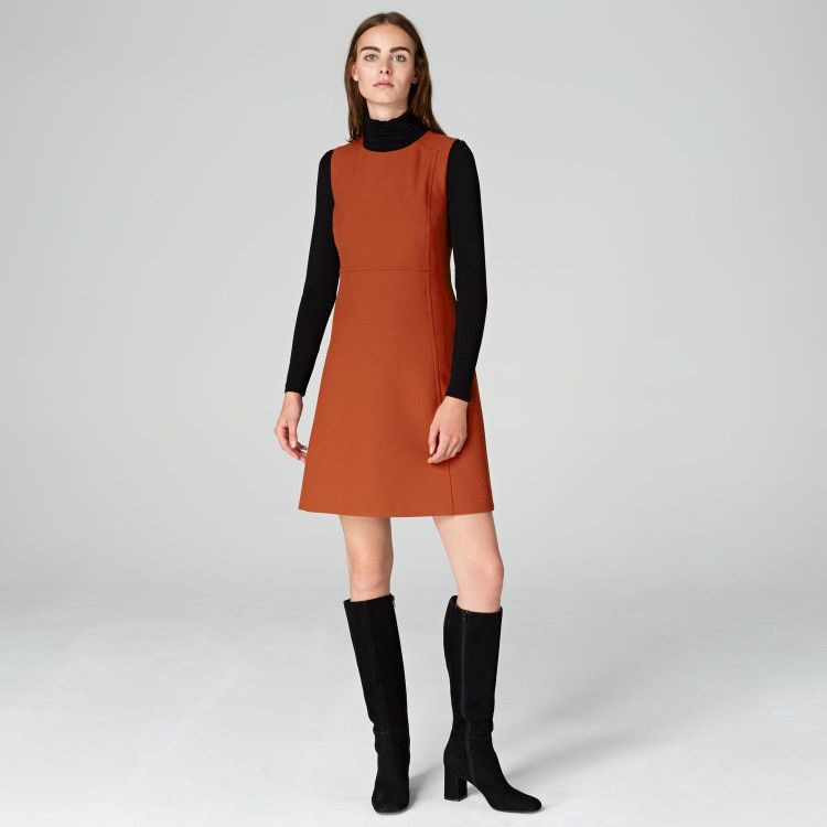 Alinienkleid Mit Ziernähten Hallhuber  Kleidung