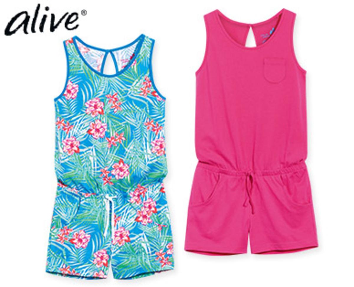 Alive® Mädchenjumpsuits/Kleider 2 Stück Von Aldi Süd