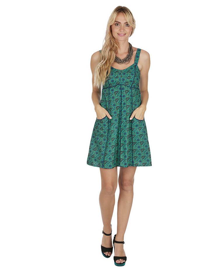 Aller Simplement Kleid In Grün/ Blau Günstig Kaufen  Limango