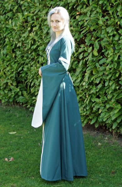 "Allerley  Kleid ""Anna""  Dunkelgrün/Ecru"