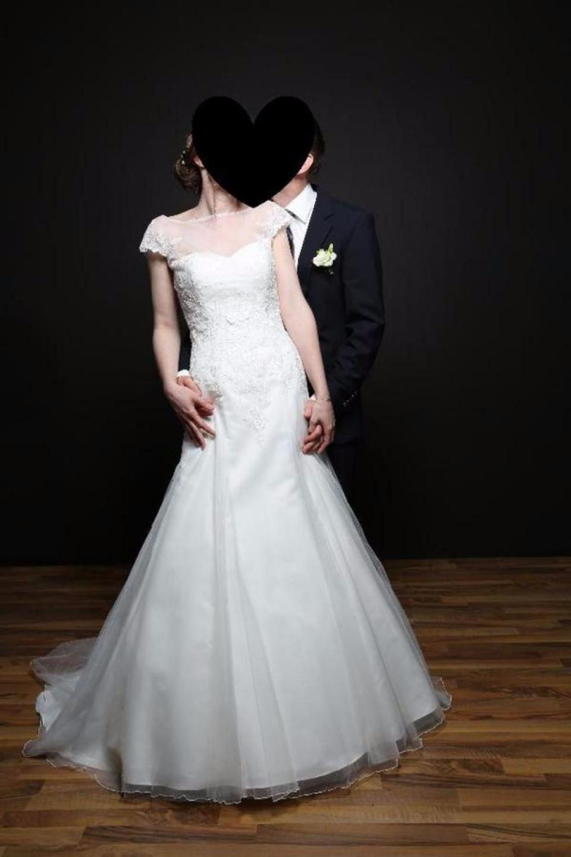 Alles Für Die Hochzeit  Brautkleid 36 Elfenbein Wie Neu