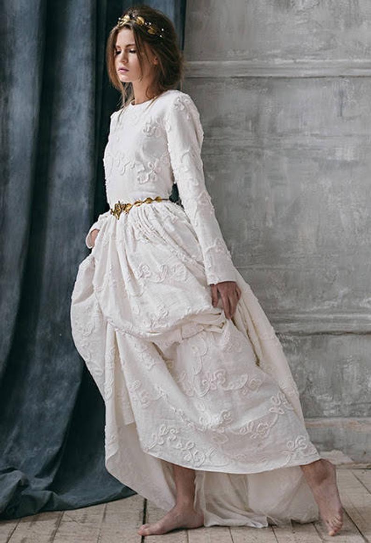 Alternative Wedding Dress In 2020  Brautkleid Lange Ärmel