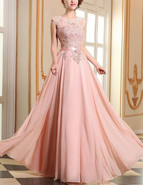 Altrosa Brautjungfernkleid