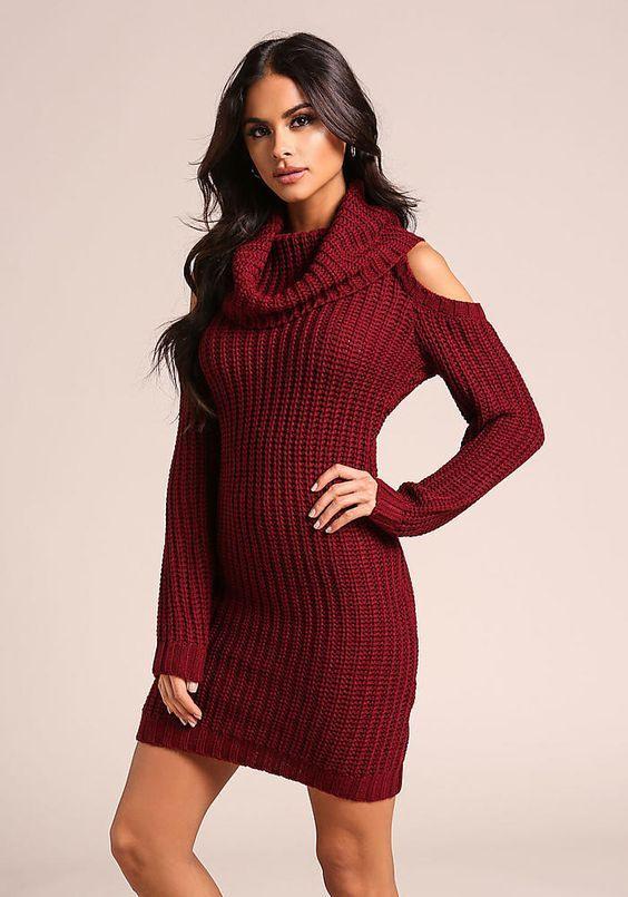 Am Besten Die Kalte Schulter Pullover Kleid Sie Können