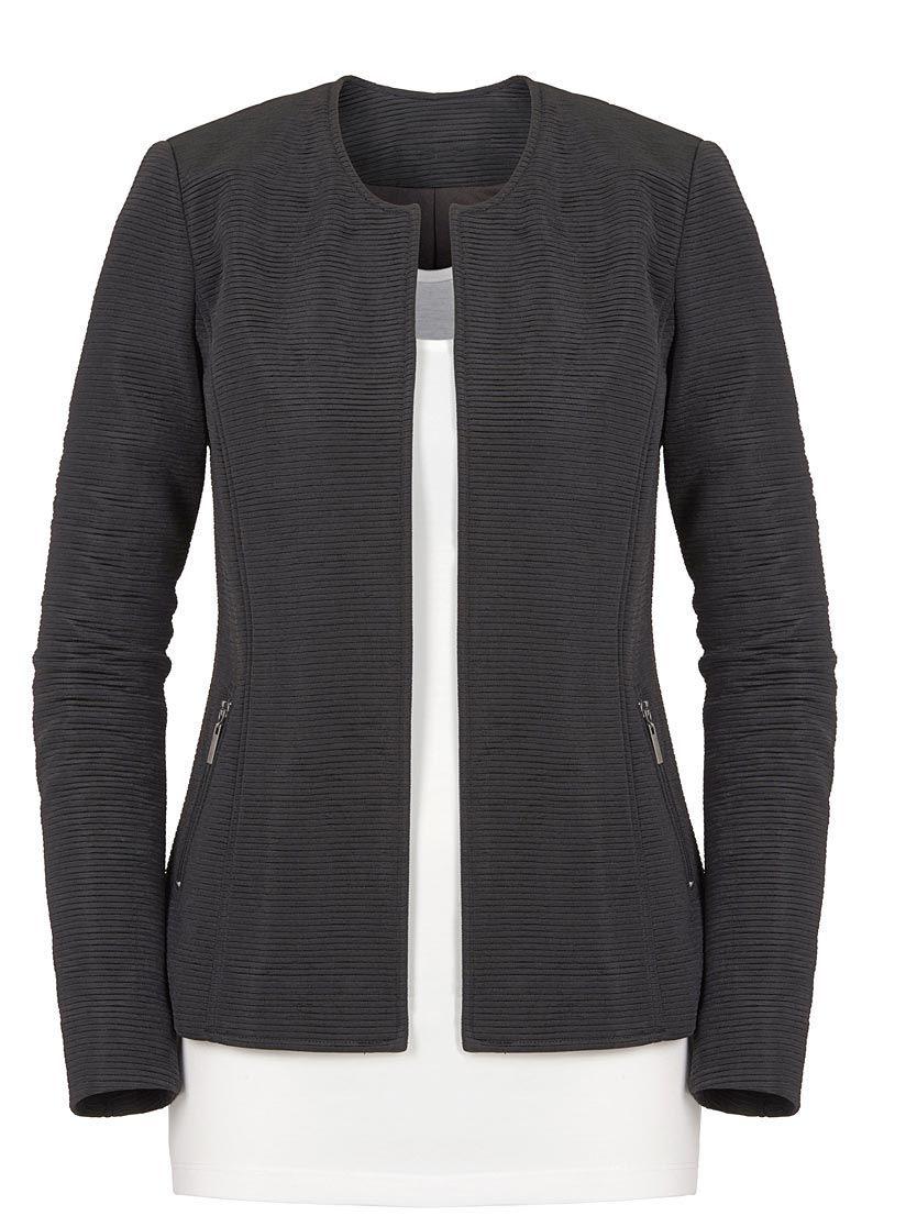 Ambria Blazer In Schwarz  Blazer Attraktiv Wolle Kaufen