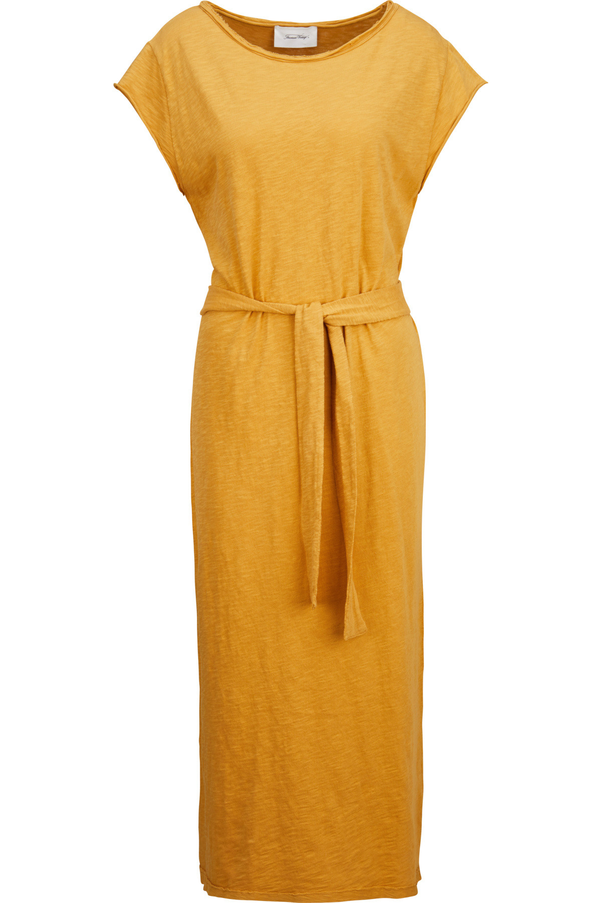 American Vintage Kleid In Senfgelb 434573  Greta  Luis