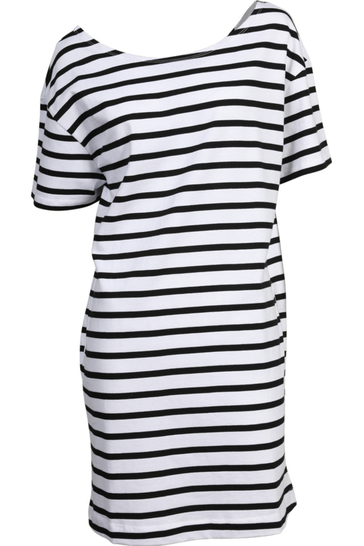 American Vintage Kleid Rico Gestreift In Schwarzweiss