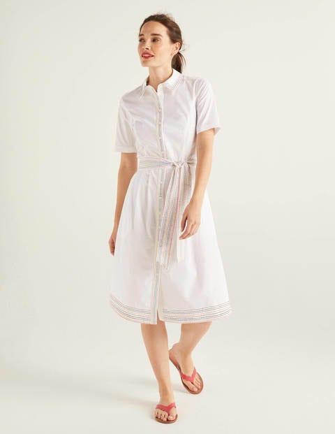 Anastasia Hemdblusenkleid  Weiß  Boden De