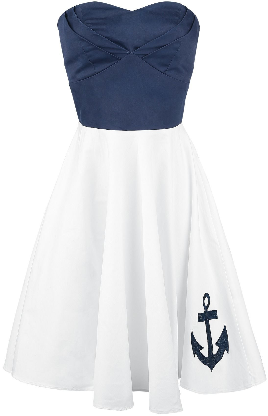 Anchor Dress  Dolly And Dotty Mittellanges Kleid  Emp