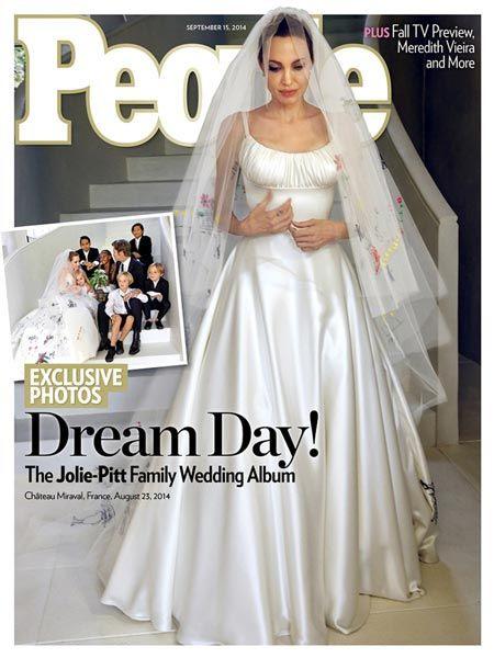 Angelina Jolie Erstes Foto Von Ihrem Brautkleid