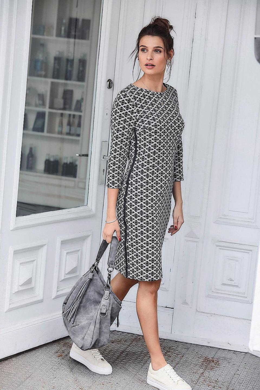 Aniston Selected Jerseykleid Für Damen  Baur  Damen Mode
