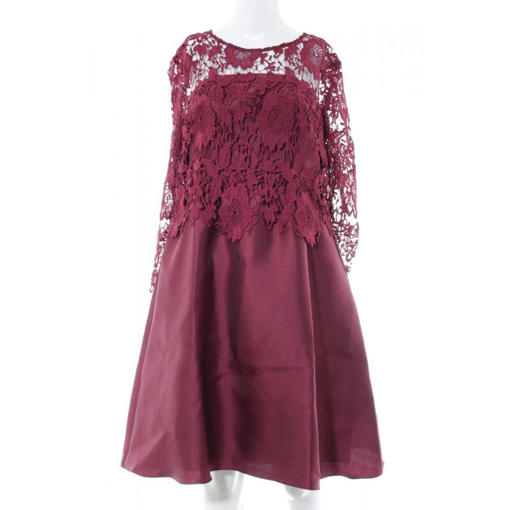 Apart Glamour Alinien Kleid Rot Blumenmuster Elegant